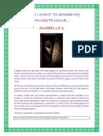 Forum My Favorite Movie Annbelle 2