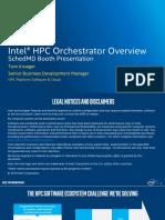 HPC Orchestrator SC16