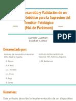 Diseño, Desarrollo y Validación de Un Dispositivo Robótico Para La Supresión Del Temblor Patológico (Mal de Parkinson)