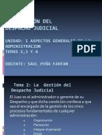 Gestión de Despacho Judicial