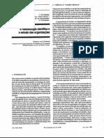 A Metodologia Científica e o Estudo Das Organizações