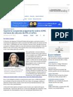 ConJur - Supremo Suspende Julgamento Sobre ICMS No Cálculo de PIS e Cofins