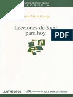 Granja, Dulce María - Lecciones de Kant Para Hoy