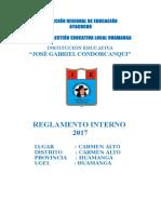 REGLAMENTO INTERNO 2017 Ie Jose Gabriel Condorcanqui