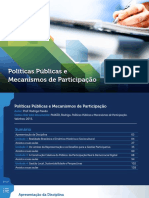Políticas Públicas Mecanismos Participação