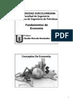 1. Conceptos de Economia