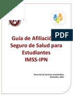 Guia Afiliacion Seguro Salud Estudiantes Imss Ipn