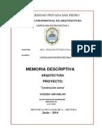 Memoria Descriptiva ARQUITECTURA (2)