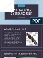 Managing Systemic Risk