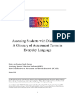 assessing students with disabilities glossary 2006