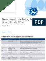 NCM - Treinamento Autor, Revisor e Liberador (CQ Insp. Recebimento)