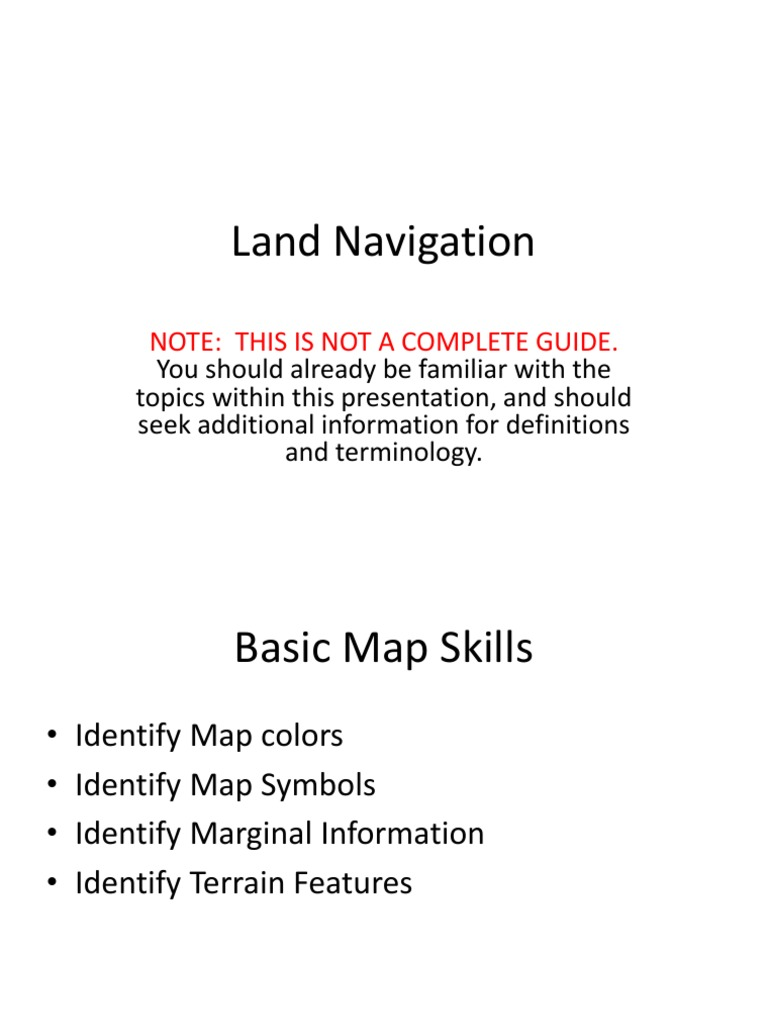 Land Navigation Powerpoint Contour Line Map
