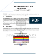 Lab No.1 Ley de Ohm