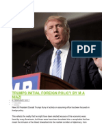 Trumps Initial Foreign Policy by m a Niazi