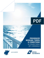 DFDS Seaways Booking Terms and Conditions 01-04-2014