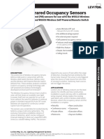 Leviton Datasheet Wireless-Occupancy-Sensors WSCxx