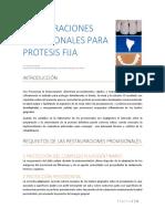 Restauraciones Provisionales Para Protesis Fija Unitaria