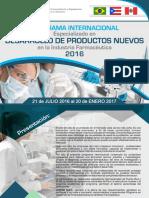 Dossier Programa Desarrollo de Productos Nuevos 2016