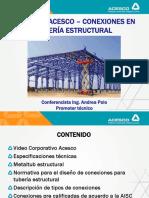 Metaltub Acesco Conexiones en Tuberia Estructural Ing Andrea Polo