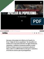 Apalear Al Populismo