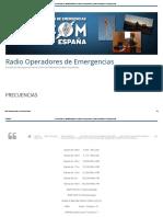 Frecuencias de Radioaficionados en Caso de Emergencias _ Radio Operadores de Emergencias
