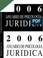 Anuario de psicología jurídica.