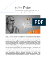 The Kautilya Project Brief