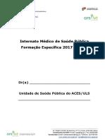 Caderneta Internato Medico de Sa de P Blica 2017-2020