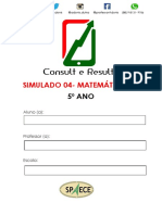 Simulado 04- Matemática - (Blog Do Prof. Adonis).