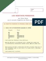 Spagnolo - Posesivos - Claves