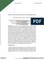 2008 Parametric Analysis of the Seismic Response of Irregular Topographic Features-Razmkhah Et Al (Iran)