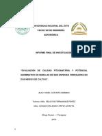 Identificación de Patógenos Fúngicos y Evaluación Del Control de Calidad en Semillas de Cinco Especies Forrajeras