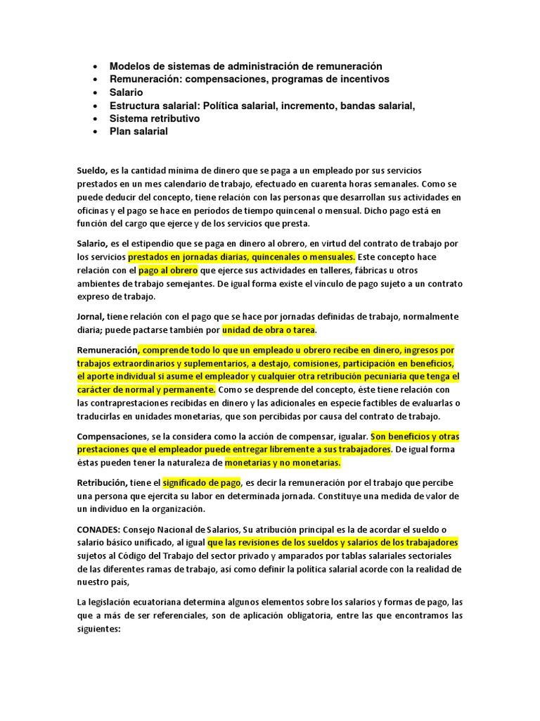 Modelos de Sistemas de Administración de Remuneración