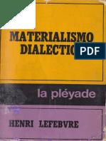 El Materialismo Dialéctico-Lefebvre