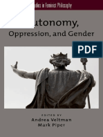 VELTMAN, Andrea. Autonomy, Oppression, And Gender