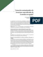 Extracción semiautomática de locuciones especializadas de Economía en español