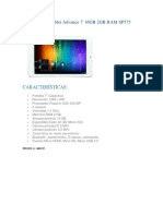 Cotizacion Tablet Advance 7 16GB 2GB RAM SP575