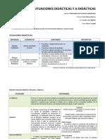 Ideas Principales de Situaciones Didc3a1cticas y No Didc3a1cticas