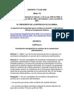 Decreto 1716 de 2009