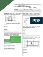 AVALIAÇÃO DE MATEMÁTICA - 5° ANO DO ENSINO FUNDAMENTAL 1 - II CICLO - 3º BIMESTRE