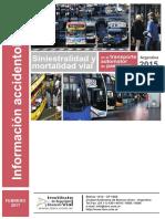 Informe Siniestralidad y Mortalidad Vial Del TPP 2015