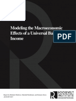 Modeling the Macroeconomic Effects of a Universal Basic Income