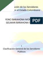 Clasificacion de Los Servidores Públicos Del Estado