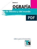 Libro Maestro Geografía Secundaria Telesecundaria VOL II  PDF