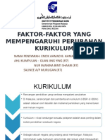 Faktor-faktor Yang Mempengaruhi Perubahan Kurikulum
