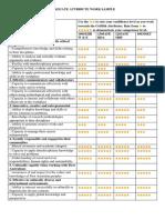 graduate attributes worksheet