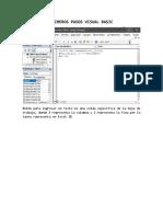 Primeros Pasos Visual Basic 2016