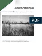 El Fuego y El Manejo de Pasturas Naturales y Cultivadas en La Region Chaqueña