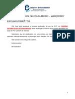 Atualização Caderno de Consumidor -Março 2017