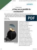 ¿Por qué hoy no es posible la revolución? | Opinión | EL PAÍS